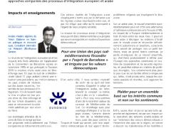 Démocratie et intégration économique : Approche comparée des processus d'intégration européen et arabe – 2ème Partie