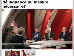 Invité à l'émission Infrarouge de la Télévision suisse du 17 Avril 2012