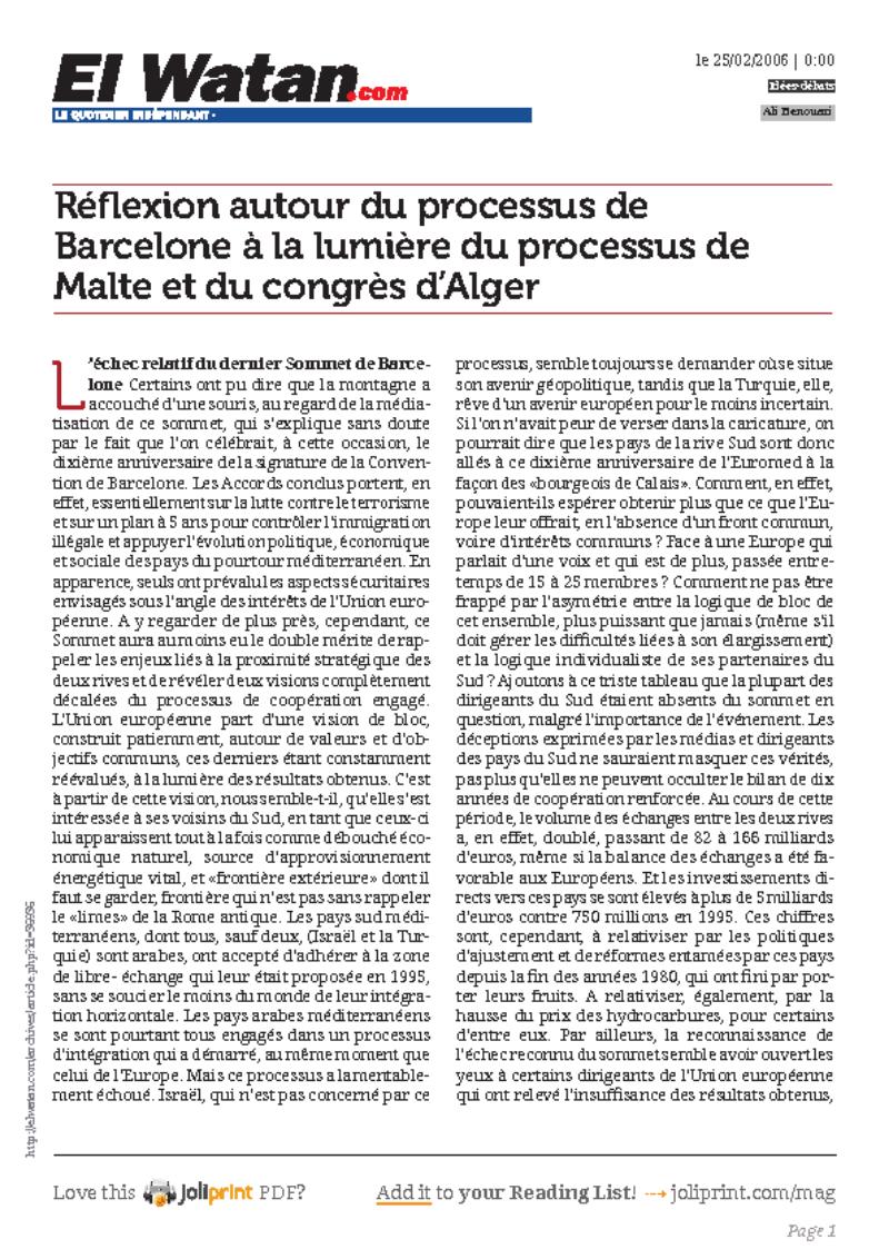 Ali-Benouari-Reflexion-autour-du-processus-de-barcelone-a-la-lumiere-du-processus-de-malte-et-du-congres-d-alger-page1