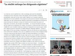 Ali Benouari, Journal Liberté-Algérie : «La réalité rattrape les dirigeants algériens»