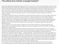 """""""Un artisan de la victoire, le peuple tunisien"""""""