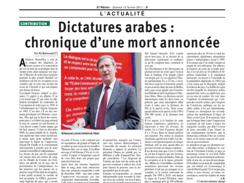 Ali-Benouari-Dictatures-arabes-chronique-d-une-mort-annoncee-small